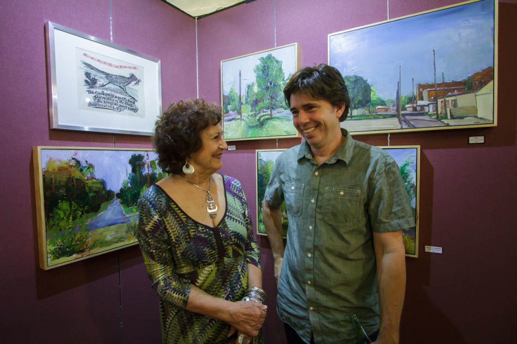 Chris Chappell & Barbara Whitehead at show opening